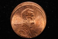 2000 UNITED STATES. ONE CENT. STRUCK OFF CENTER