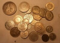 BRAZIL LOT OF 25 SILVER  COINS 1800S   VERY DIFERENT DATES