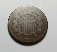 1871 TWO-CENT PIECE  POST CIVIL WAR  COMBINED SHIPPING  LOT R77