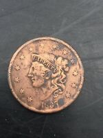 1837 US LARGE CENT COPPER PENNY COIN MEDIUM LETTERS G VG F VG  YOU GRADE IT