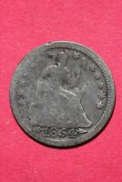 CULL 1854 P SEATED LIBERTY HALF DIME EXACT COIN SHOWN FLAT RATE SHIPPING OCE 183