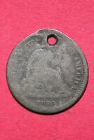 CULL 1860 ? SEATED LIBERTY HALF DIME EXACT COIN SHOWN FLAT RATE SHIPPING OCE 189