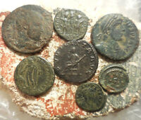 LOT OF 7 NICE ANCIENT ROMAN COINS LARGEST 25 MM EASY TO ID