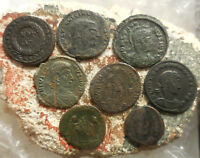 LOT OF 8 NICE ANCIENT ROMAN COINS LARGEST 19 MM EASY TO ID