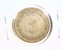 1918 STRAITS SETTLEMENTS 5 CENT COIN KM31