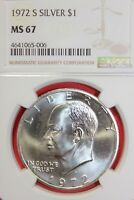 1972 S MINT STATE 67 40 SILVER EISENHOWER DOLLAR NGC GRADED FLAT RATE SHIPPING TOM1145