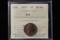 1973 CANADA. ONE CENT. ICCS GRADED SP 65  XQP641