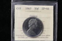 1967 CANADA. 50 CENTS. ICCS GRADED SP 66 CAMEO.  XQP633