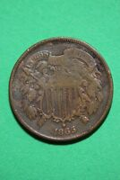 1865 TWO 2 CENT SHIELD COIN EXACT COIN PICTURED FLAT RATE SHIPPING OCE0086
