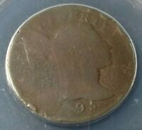 1795 US LIBERTY CAP LARGE CENT LETTERED EDGE S 75  ANACS POOR 1