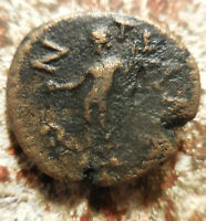 ANCIENT GREEK COIN SHOULD BE EASY TO ID 19 MM 4.56 G GREAT LETTERS