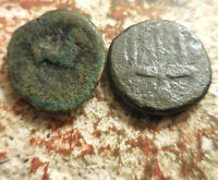 LOT OF 2 ANCIENT GREEK COINS PHILIP II  ALEXANDER'S FATHER  HIERON OF SYRACUSE: