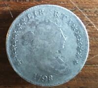 1798/97 16 STAR REV. BUST SILVER DIME   FREE   S/H