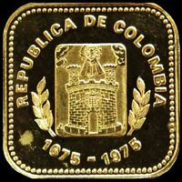 1975 GOLD COLOMBIA 1000 PESOS 4.3 GRAMS TRICENTENNIAL MEDELL