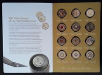 2018 AUSTRALIA 30TH ANNIVERSARY OF THE $2 COIN 12 COIN COLLE