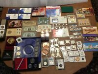 US COIN COLLECTION MIXED LOT  INCL. PROOF SETS MINT SETS BAN