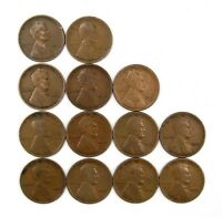 LOT OF 25 1913 P 1C LINCOLN WHEAT CENT PENNIES VG  GOOD 133063