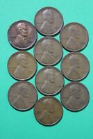 LOT OF 10 1933 P LINCOLN WHEAT CENTS EXACT COINS SHOWN FLAT RATE SHIPPING OCE079