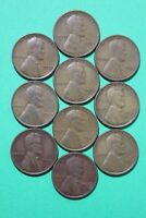 LOT OF 10 1933 P LINCOLN WHEAT CENTS EXACT COINS SHOWN FLAT RATE SHIPPING OCE090