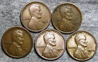 1911-S1917-D1921-S1923 1929 LINCOLN WHEAT CENTS ----  LOT ----P249