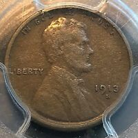 1913-S LINCOLN CENT PCGS VF30 GREAT FOR GRADE CHN
