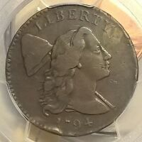 1794 FLOWING HAIR LARGE CENT PCGS VF DETAIL RIM DAMAGE  HEAD OF 1794   COIN