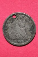 CULL 1858 O SEATED LIBERTY HALF DIME EXACT COIN SHOWN FLAT RATE SHIPPING OCE 193