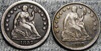 1857-O 1858 SEATED LIBERTY HALF DIME LOT ----  TYPE COINS  ----   P646