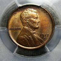 1917-S LINCOLN CENT MINT STATE 64 PCGS GRADED WHEAT ---- SLABBED ---- AA03