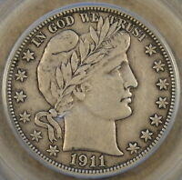 1911-D BARBER HALF DOLLAR PCGS EXTRA FINE 40 CAC