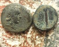 VF  LOT OF 2 COINS SINOPE  NIKE QUIVER & AMASEIA ARES / SWORD PERHAPS