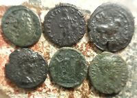 LOT OF 6 ROMAN PROVINCIAL COINS FINE   VF LARGEST 20.5 MM