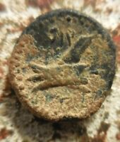 VF  PHOENICIA. ARADOS 2ND C BC. ZEUS / ANCIENT TRIPLE POINTED GALLEY RAM