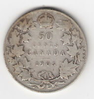 1905 KEY DATE CANADA FIFTY CENTS   VG  CONDITION