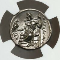 NGC AU. ALEXANDER THE GREAT DRACHM. THE MOST ARTISTIC KNOWN