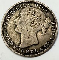 1865 CANADIAN 20 CENT PIECE  SEE PICS   ONLY 100 000 MINTAGE