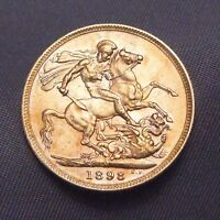 1898 GREAT BRITAIN SOVEREIGN | STUNNING SHAPE | GOLD 0.235 O