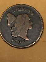 1 795 LIBERTY CAP HALF CENT  LETTERED  EDGE PUNCTUATED DATE. NICE FINE