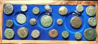 LOT OF 21 FINE TO VF ANCIENT GREEK COINS: LARGEST 20 MM GREA
