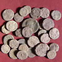 LOT OF 30 UNCLEANED LATE ROMAN BRONZE COIN