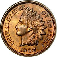 1908-S 1C INDIAN CENT NGC MINT STATE 64RB PHOTO SEAL