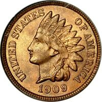 1909 1C INDIAN CENT NGC MINT STATE 64RB PHOTO SEAL