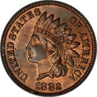 1882 1C INDIAN CENT PCGS MINT STATE 64RB PHOTO SEAL