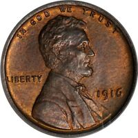 1916 1C LINCOLN CENT PCGS MINT STATE 64RB