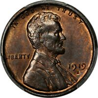 1919-S 1C LINCOLN CENT PCGS MINT STATE 64RB CAC