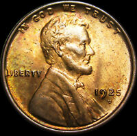 1925-D LINCOLN CENT WHEAT CENT --- PCGS MINT STATE 64 RED GEM BU --- 219