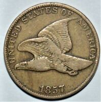 BETTER GRADE 1857 FLYING EAGLE CENT   NICE COIN   .99C START
