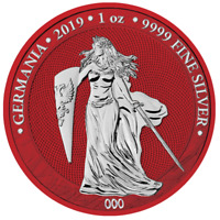 2019 GERMANIA SPACE RED 5 MARK 1 OZ .9999 SILVER ROUND