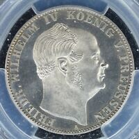 THALER 1861 A PCGS MS64PL GERMAN STATES PRUSSIA PROOFLIKE LO