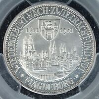 3 MARK 1931 A PCGS PR64CAM GERMANY WEIMAR MAGDEBURG 300 YEAR